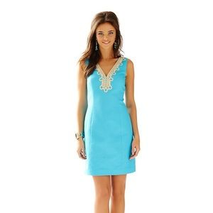 Lilly Pulitzer Bentley Shift Dress serulian blue
